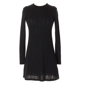 Topshop Long Sleeve Black Dress